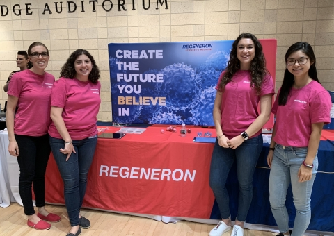 Regeneron employer reps at the Engineering Career Fair