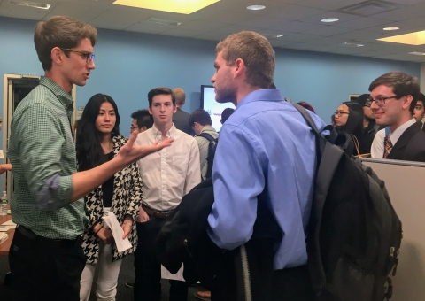 Students Talking with Company Representative