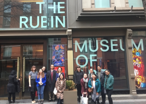 Students outside of the Rubin Museum of Art
