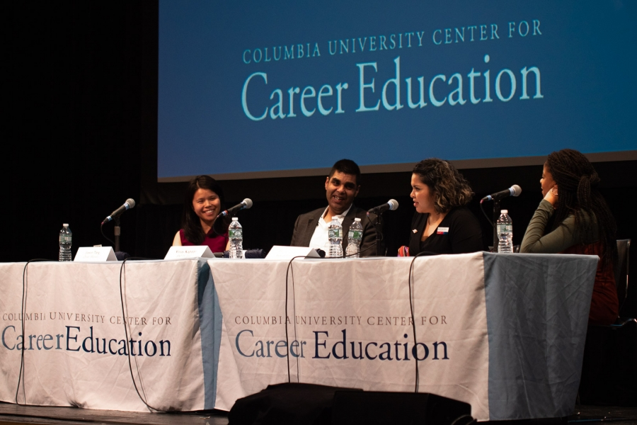 Panelists from Diversity Recruiting event