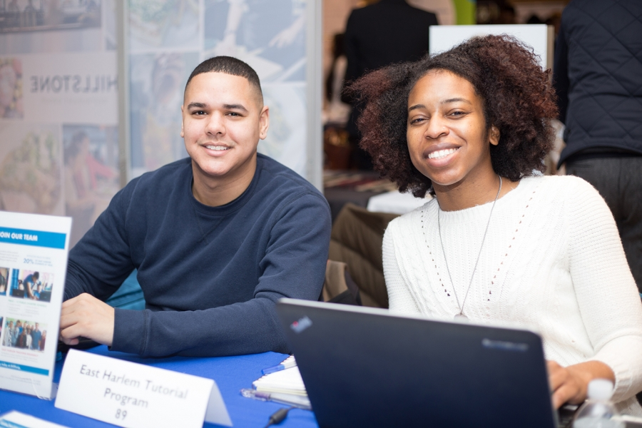 Employer representatives at the Spring Career Fair.