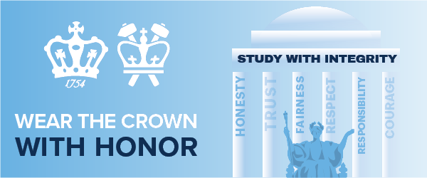 "Academic Integrity Icon: ""Wear the Crown with Honor: Study with Integrity"""