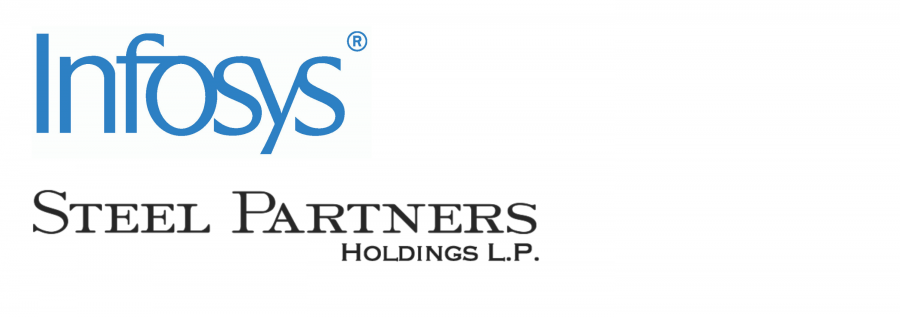 Infosys and Steel Partner Holdings logos